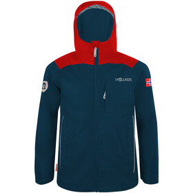 TROLLKIDS Bergen Jacket Kids bright red/mystic blue